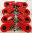 "Made4You 10-31313 Single T-Clamps, 5/16"" Red (6/cd)"