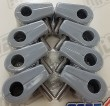 "Made4You 10-31319 Single T-Clamps, 5/16"" Gray (6/cd)"