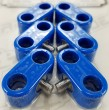 "Made4You 20-37712 Double T-Clamps, 3/8""-3/8"" Blue (4/cd)"