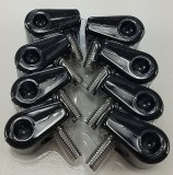 "Made For You Products 10-25011 Single T-Clamps, 1/4"" Black (8/cd)"
