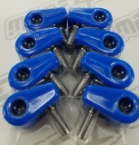 "Made For You Products 10-25012 Single T-Clamps, 1/4"" Blue (8/cd)"