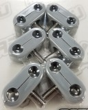 "Made4You 20-252119 Double T-Clamps, 1/4""-1/4"" Gray (6/cd)"