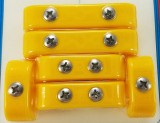 Made4You 50-11015 Universal Spark Plug Wire Separators, 10.5mm, Yellow