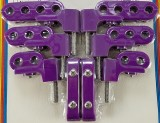 Made4You 50-95620 Horizontal Spark Plug Wire Loom Kit, 7-8mm, Purple