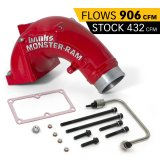Banks Power 42788-PC Monster-Ram Intake Elbow Kit W/Fuel Line 3.5 Inch Red Powder Coated 07.5-18 Dodge/Ram 2500/3500 6.7L