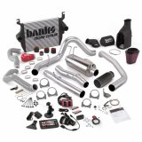 Banks Power 46633-B Big Hoss Bundle Complete Power System W/Single Exhaust Black Tip 5 Inch Screen 05-07 Ford 6.0L ECSB