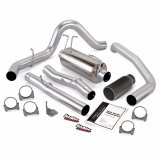 Banks Power 47285-B Monster Exhaust System Single Exit Black Tip 03-07 Ford 6.0 F450-F550 Extended Cab 162 inch