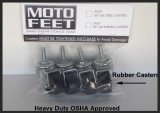 Motofeet Rubber Casters