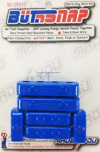 Made4You 50-05612 Butn-Snap Spark Plug Wire Separators, 7-8mm, Blue