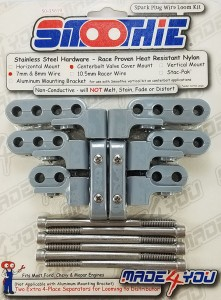 Made4You 50-35619 Center Bolt Chevy Wire Loom Separator Kit, 7-8mm, Gray