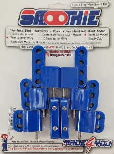 Made4You 50-75612 Vertical Spark Plug Wire Loom Kit, 7-8mm, Blue