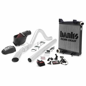 Banks Power 46656 Big Hoss Bundle Complete Power System W/Single Exhaust Chrome Tip 5 Inch Screen 08-10 Ford 6.4L ECSB-CCSB to SWB Short Wheelbase