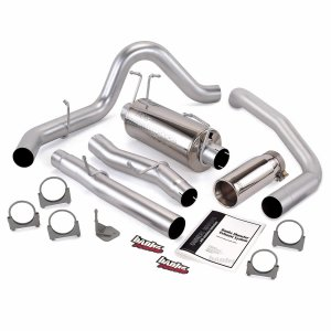 Banks Power 47285 Monster Exhaust System Single Exit Chrome Tip 03-07 Ford 6.0L F450-F550 EC 162 inch